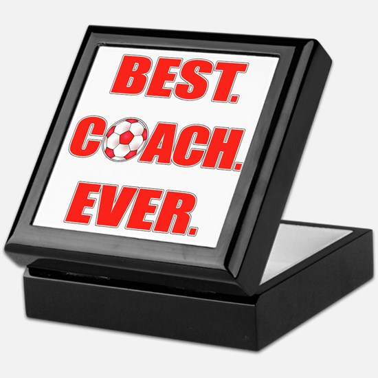 Best. Coach. Ever. Red Keepsake Box