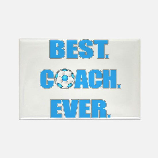 Best. Coach. Ever. Blu Rectangle Magnet (100 pack)