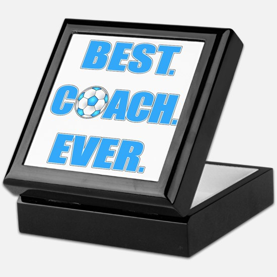Best. Coach. Ever. Blue Keepsake Box