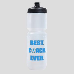 Best. Coach. Ever. Blue Sports Bottle