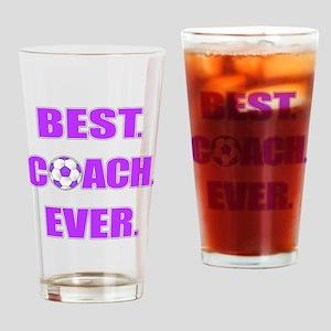 Best. Coach. Ever. Purple Drinking Glass