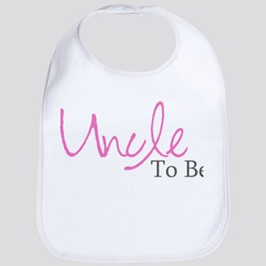 Uncle To Be (Pink Script) Bib