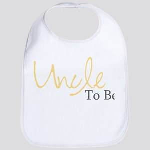 Uncle To Be (Yellow Script) Bib
