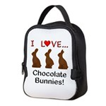I Love Chocolate Bunnies Neoprene Lunch Bag