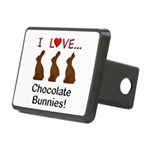 I Love Chocolate Bunnies Rectangular Hitch Cover