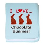 I Love Chocolate Bunnies baby blanket