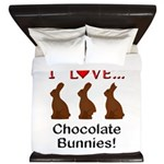 I Love Chocolate Bunnies King Duvet
