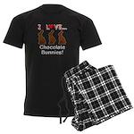 I Love Chocolate Bunnies Men's Dark Pajamas