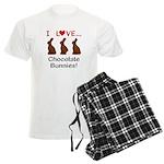 I Love Chocolate Bunnies Men's Light Pajamas