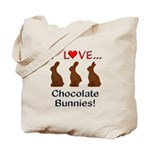 I Love Chocolate Bunnies Tote Bag