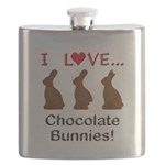 I Love Chocolate Bunnies Flask