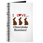 I Love Chocolate Bunnies Journal