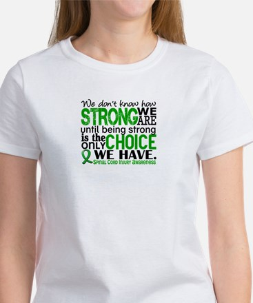 Spinal Cord Injury HowStrongWeAre1 Women's T-Shirt
