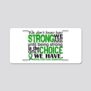 Spinal Cord Injury HowStron Aluminum License Plate
