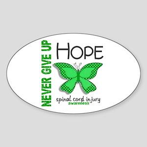 SCI NeverGiveUpHopeButterfly4 Sticker (Oval)