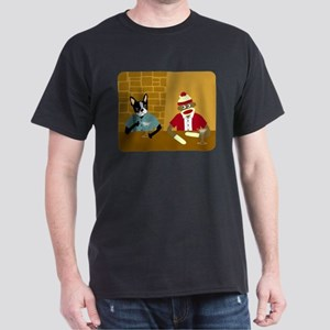 Boston Terrier & Sock Monkey Dark T-Shirt