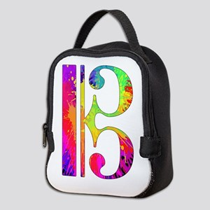 Colorful Alto Clef Neoprene Lunch Bag