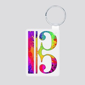 Colorful Alto Clef Aluminum Photo Keychain