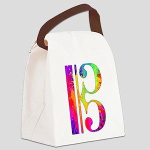 Colorful Alto Clef Canvas Lunch Bag