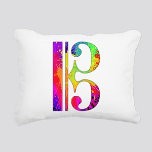 Colorful Alto Clef Rectangular Canvas Pillow