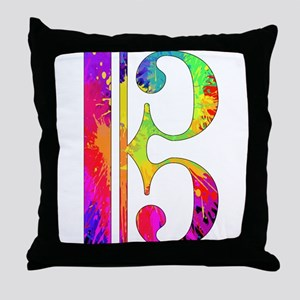 Colorful Alto Clef Throw Pillow