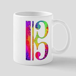 Colorful Alto Clef Mug
