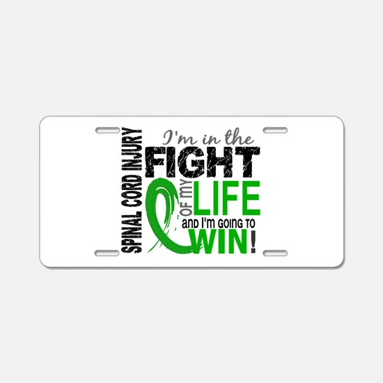 Spinal Cord Injury FightOfM Aluminum License Plate