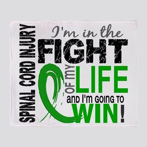 Spinal Cord Injury FightOfMyLife1 Throw Blanket