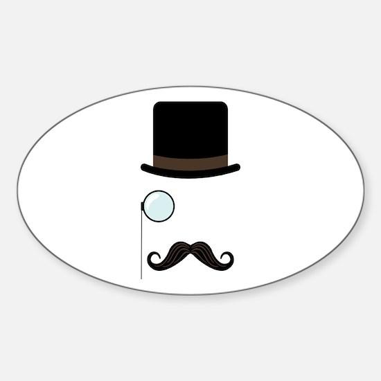 Classy Gentleman Mustache Decal
