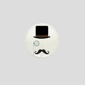 Classy Gentleman Mustache Mini Button
