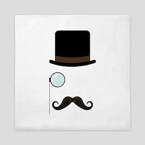 Classy Gentleman Mustache Queen Duvet