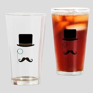 Classy Gentleman Mustache Drinking Glass