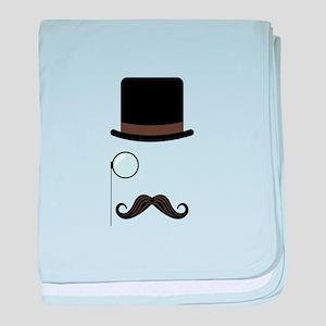 Classy Gentleman Mustache baby blanket