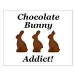 Chocolate Bunny Addict Small Poster