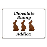 Chocolate Bunny Addict Banner