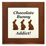 Chocolate Bunny Addict Framed Tile