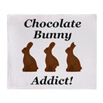 Chocolate Bunny Addict Throw Blanket