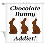 Chocolate Bunny Addict Shower Curtain