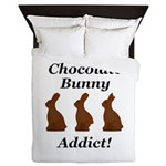 Chocolate Bunny Addict Queen Duvet