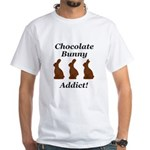 Chocolate Bunny Addict White T-Shirt