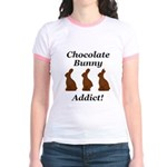 Chocolate Bunny Addict Jr. Ringer T-Shirt