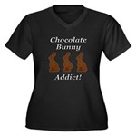 Chocolate Bu Women's Plus Size V-Neck Dark T-Shirt