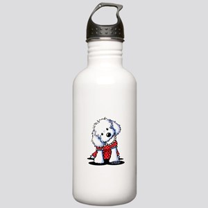 Maltese In Dots Stainless Water Bottle 1.0L