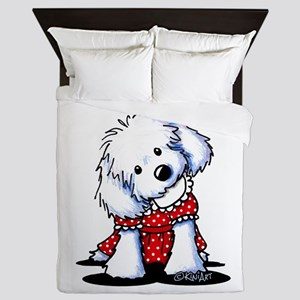 Maltese In Dots Queen Duvet