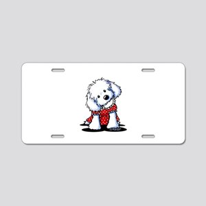 Maltese In Dots Aluminum License Plate