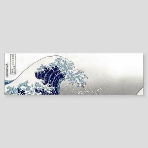 great wave of Kanagawa by hokusai Bumper Sticker