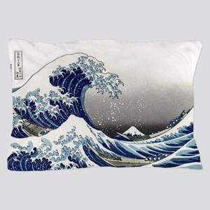 great wave of Kanagawa by hokusai Pillow Case