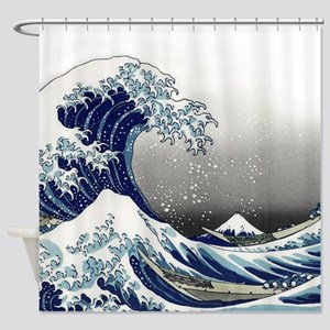 great wave of Kanagawa by hokusai Shower Curtain