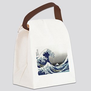 great wave of Kanagawa by hokusai Canvas Lunch Bag