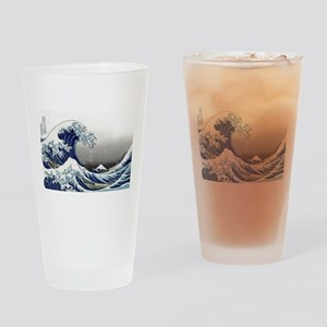 great wave of Kanagawa by hokusai Drinking Glass